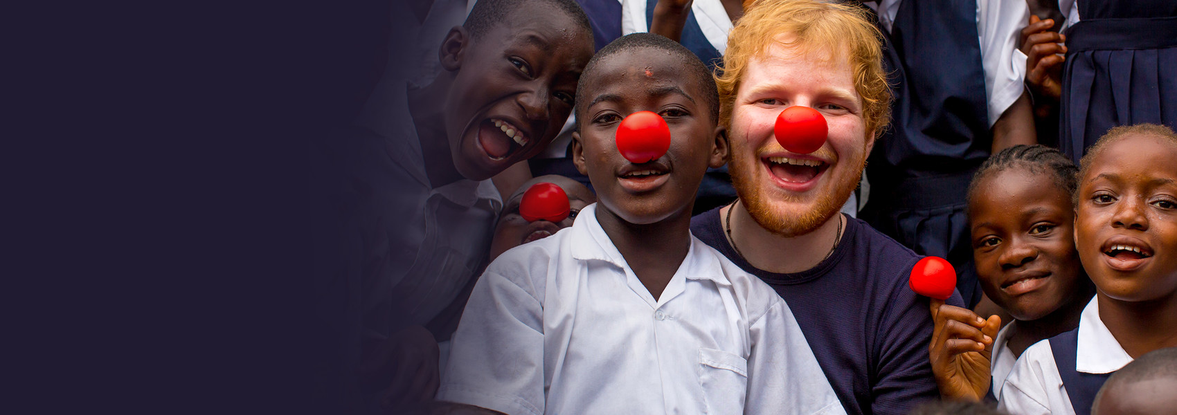 Ed Sheeran supports Red Nose Day